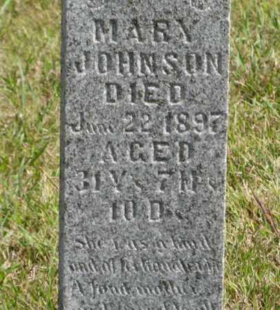 JOHNSON, MARY (CLOSEUP) - Knox County, Nebraska | MARY (CLOSEUP) JOHNSON - Nebraska Gravestone Photos