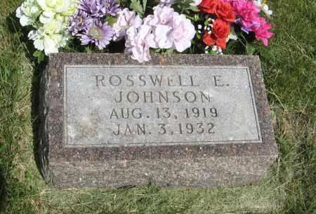 JOHNSON, ROSSWELL E. - Knox County, Nebraska | ROSSWELL E. JOHNSON - Nebraska Gravestone Photos