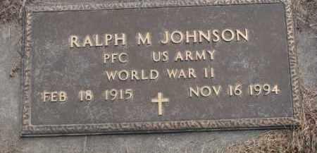 JOHNSON, RALPH M. (WW II) - Knox County, Nebraska   RALPH M. (WW II) JOHNSON - Nebraska Gravestone Photos