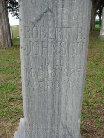JOHNSON, ROBERT B (CLOSEUP) - Knox County, Nebraska   ROBERT B (CLOSEUP) JOHNSON - Nebraska Gravestone Photos