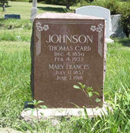 JOHNSON, MARY FRANCES - Knox County, Nebraska | MARY FRANCES JOHNSON - Nebraska Gravestone Photos