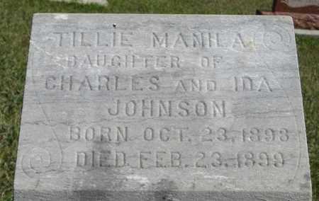 JOHNSON, TILLIE (CLOSEUP) - Knox County, Nebraska | TILLIE (CLOSEUP) JOHNSON - Nebraska Gravestone Photos