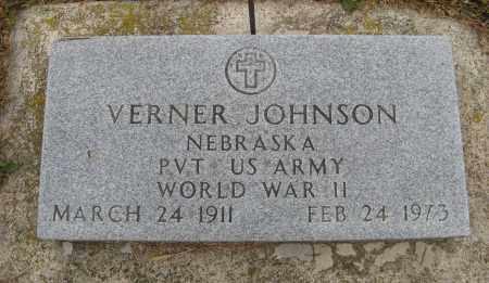 JOHNSON, VERNER (MILITARY MARKER) - Knox County, Nebraska | VERNER (MILITARY MARKER) JOHNSON - Nebraska Gravestone Photos