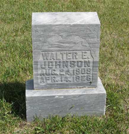 JOHNSON, WALTER E. - Knox County, Nebraska | WALTER E. JOHNSON - Nebraska Gravestone Photos