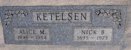 KETELSEN, NICK B. - Knox County, Nebraska | NICK B. KETELSEN - Nebraska Gravestone Photos