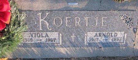 KOERTJE, VIOLA LILLIAN DOROTHY - Knox County, Nebraska   VIOLA LILLIAN DOROTHY KOERTJE - Nebraska Gravestone Photos