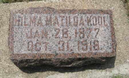 KOOL, HILMA MATILDA - Knox County, Nebraska | HILMA MATILDA KOOL - Nebraska Gravestone Photos