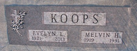 HUNT KOOPS, EVELYN L. - Knox County, Nebraska | EVELYN L. HUNT KOOPS - Nebraska Gravestone Photos