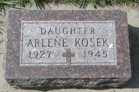 KOSEK, ARLENE MARIE - Knox County, Nebraska | ARLENE MARIE KOSEK - Nebraska Gravestone Photos