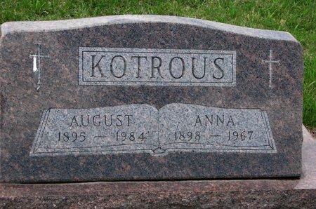 KOTROUS, ANNA ELEANOR - Knox County, Nebraska | ANNA ELEANOR KOTROUS - Nebraska Gravestone Photos