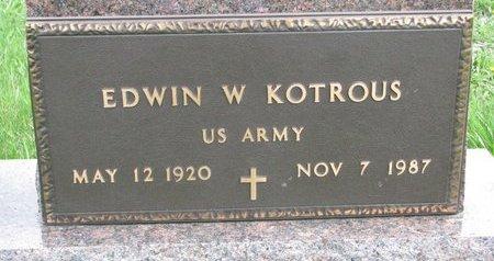 "KOTROUS, EDWIN W. ""BILL"" (MILITARY) - Knox County, Nebraska | EDWIN W. ""BILL"" (MILITARY) KOTROUS - Nebraska Gravestone Photos"
