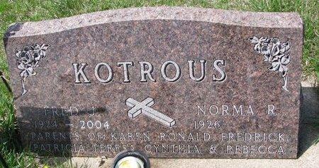 KOTROUS, FRED J. - Knox County, Nebraska | FRED J. KOTROUS - Nebraska Gravestone Photos