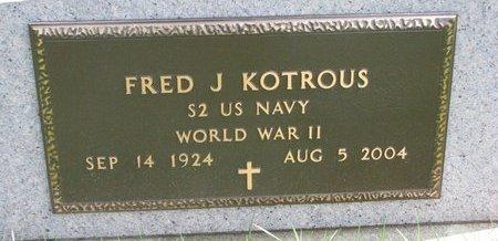 KOTROUS, FRED J. (MILITARY) - Knox County, Nebraska | FRED J. (MILITARY) KOTROUS - Nebraska Gravestone Photos
