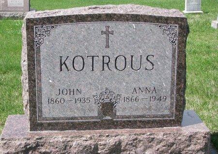 KOTROUS, JOHN - Knox County, Nebraska | JOHN KOTROUS - Nebraska Gravestone Photos