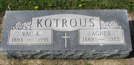 KOTROUS, VAC E. - Knox County, Nebraska | VAC E. KOTROUS - Nebraska Gravestone Photos