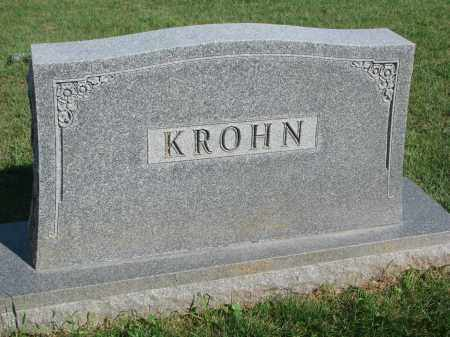 KROHN, PLOT STONE - Knox County, Nebraska | PLOT STONE KROHN - Nebraska Gravestone Photos