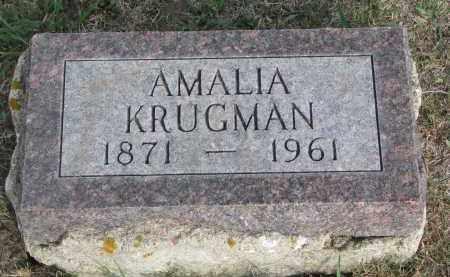 KRUGMAN, AMALIA - Knox County, Nebraska | AMALIA KRUGMAN - Nebraska Gravestone Photos