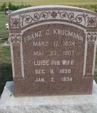KRUGMANN, FRANZ C. - Knox County, Nebraska | FRANZ C. KRUGMANN - Nebraska Gravestone Photos