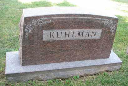 KUHLMAN, PLOT STONE - Knox County, Nebraska | PLOT STONE KUHLMAN - Nebraska Gravestone Photos
