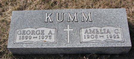 KUMM, AMELIA C. - Knox County, Nebraska | AMELIA C. KUMM - Nebraska Gravestone Photos