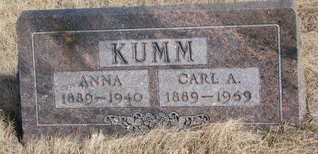 KUMM, CARL A. - Knox County, Nebraska | CARL A. KUMM - Nebraska Gravestone Photos