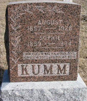 KUMM, SOPHIE AUGUSTA LOUISE BERG - Knox County, Nebraska | SOPHIE AUGUSTA LOUISE BERG KUMM - Nebraska Gravestone Photos