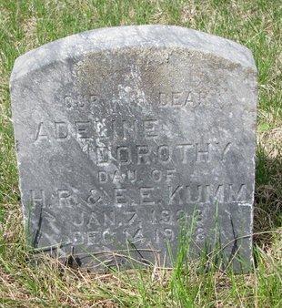 KUMM, ADELINE DOROTHY - Knox County, Nebraska | ADELINE DOROTHY KUMM - Nebraska Gravestone Photos