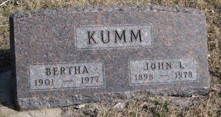 KUMM, BERTHA - Knox County, Nebraska | BERTHA KUMM - Nebraska Gravestone Photos