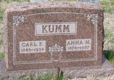 KUMM, ANNA MARGARET - Knox County, Nebraska | ANNA MARGARET KUMM - Nebraska Gravestone Photos