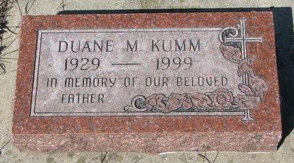 KUMM, DUANE M. - Knox County, Nebraska | DUANE M. KUMM - Nebraska Gravestone Photos