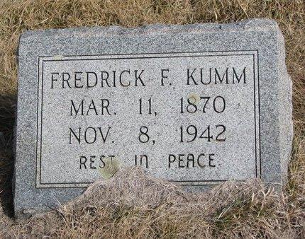 KUMM, FREDRICK F. - Knox County, Nebraska | FREDRICK F. KUMM - Nebraska Gravestone Photos