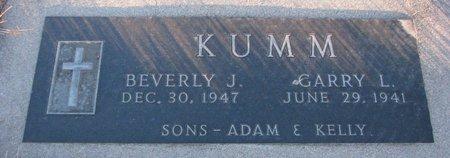KUMM, BEVERLY J. - Knox County, Nebraska | BEVERLY J. KUMM - Nebraska Gravestone Photos