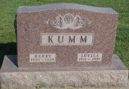 KUMM, HENRY - Knox County, Nebraska | HENRY KUMM - Nebraska Gravestone Photos
