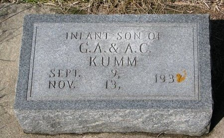 KUMM, INFANT SON - Knox County, Nebraska | INFANT SON KUMM - Nebraska Gravestone Photos
