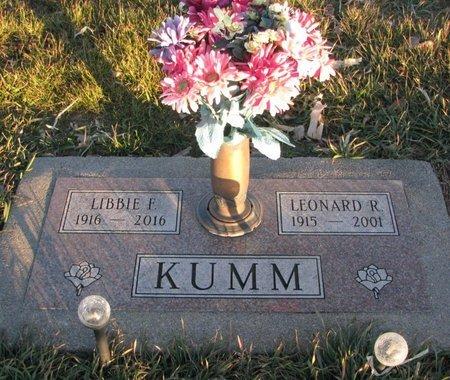 KUMM, LEONARD R. - Knox County, Nebraska | LEONARD R. KUMM - Nebraska Gravestone Photos