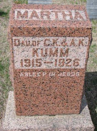 KUMM, MARTHA - Knox County, Nebraska | MARTHA KUMM - Nebraska Gravestone Photos