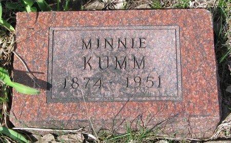 KUMM, MINNIE - Knox County, Nebraska | MINNIE KUMM - Nebraska Gravestone Photos