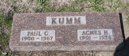 KUMM, AGNES H. - Knox County, Nebraska   AGNES H. KUMM - Nebraska Gravestone Photos