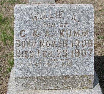 KUMM, WILLIE A. - Knox County, Nebraska   WILLIE A. KUMM - Nebraska Gravestone Photos