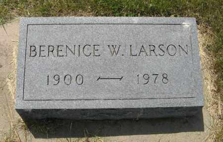 LARSON, BERENICE W. - Knox County, Nebraska   BERENICE W. LARSON - Nebraska Gravestone Photos