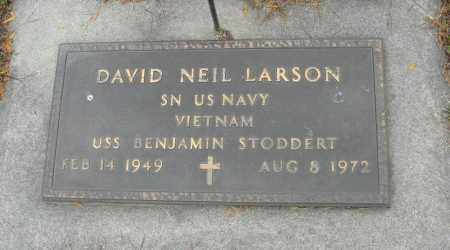 LARSON, DAVID NEIL (MILITARY MARKER) - Knox County, Nebraska   DAVID NEIL (MILITARY MARKER) LARSON - Nebraska Gravestone Photos