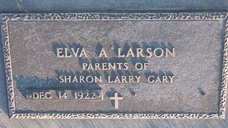 LARSON, ELVA A. - Knox County, Nebraska | ELVA A. LARSON - Nebraska Gravestone Photos