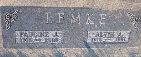 LEMKE, ALVIN A. - Knox County, Nebraska   ALVIN A. LEMKE - Nebraska Gravestone Photos