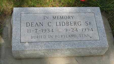 LIDBERG SR., DEAN C. - Knox County, Nebraska | DEAN C. LIDBERG SR. - Nebraska Gravestone Photos