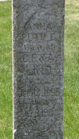 LIND, ANNA RUTH (CLOSEUP) - Knox County, Nebraska   ANNA RUTH (CLOSEUP) LIND - Nebraska Gravestone Photos