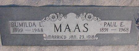 MAAS, PAUL E. - Knox County, Nebraska | PAUL E. MAAS - Nebraska Gravestone Photos