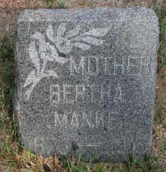 MANKE, BERTHA - Knox County, Nebraska | BERTHA MANKE - Nebraska Gravestone Photos