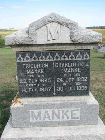 MANKE, CHARLOTTE J. - Knox County, Nebraska | CHARLOTTE J. MANKE - Nebraska Gravestone Photos