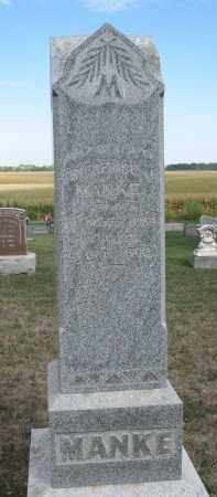 MANKE, FRIEDERICH J. - Knox County, Nebraska | FRIEDERICH J. MANKE - Nebraska Gravestone Photos
