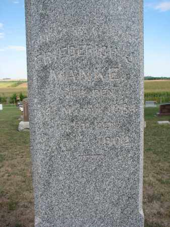 MANKE, FRIEDERICH J. (CLOSEUP) - Knox County, Nebraska | FRIEDERICH J. (CLOSEUP) MANKE - Nebraska Gravestone Photos